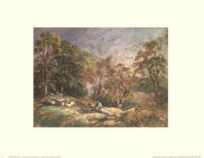 Landscape With Resting Men art print by Thomas Gainsborough for $15.00 CAD