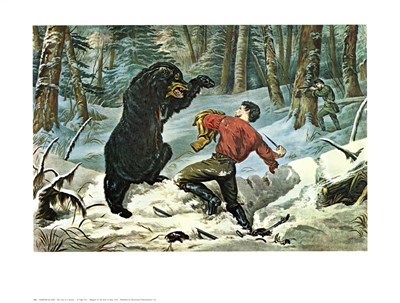 Life of a Hunter art print by Currier and Ives for $25.00 CAD