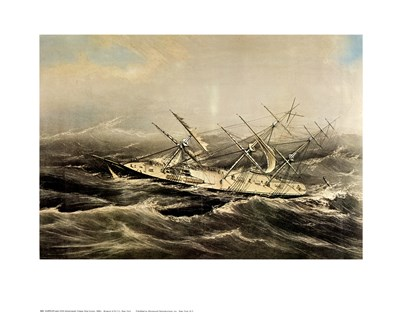 Clipper Ship Comet art print by Currier and Ives for $25.00 CAD