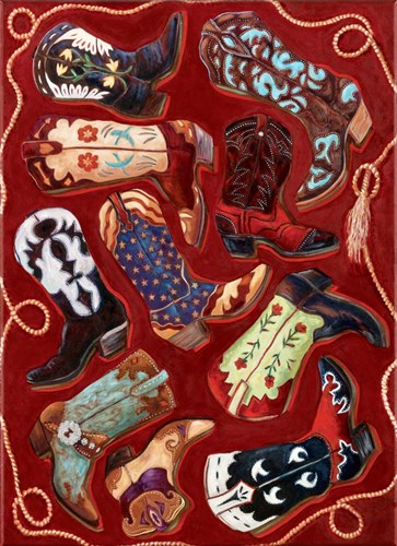 Boot Scootin' Boogie art print by Marty LeMessurier for $40.00 CAD