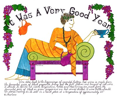 Was A Very Good Year art print by Marlene Siff for $82.50 CAD