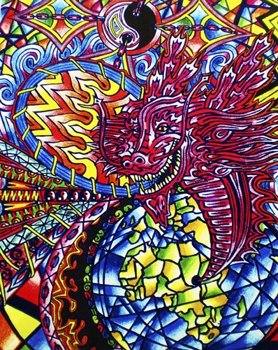 African Dragon art print by Abstract Graffiti for $40.00 CAD