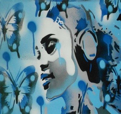 Butterfly Dreams art print by Abstract Graffiti for $33.75 CAD