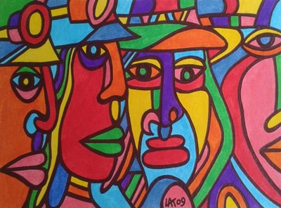 Chilean Faces art print by Abstract Graffiti for $35.00 CAD