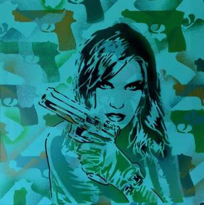 Revolver Greens art print by Abstract Graffiti for $35.00 CAD