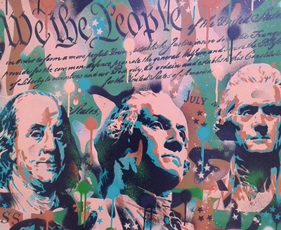 We the People art print by Abstract Graffiti for $37.50 CAD