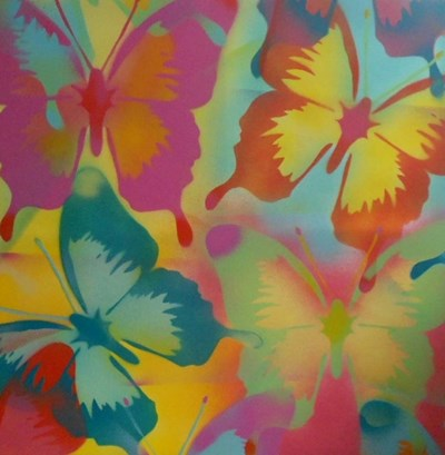 Butterflies art print by Abstract Graffiti for $35.00 CAD