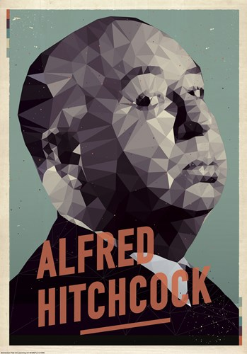 Alfred Hitchcock art print by American Flat for $38.75 CAD