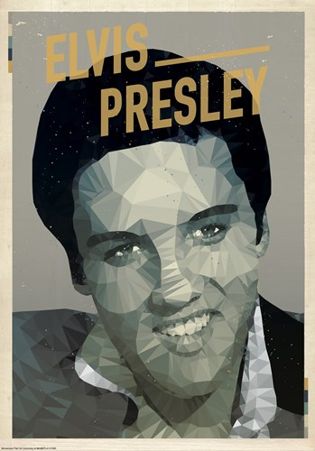 Elvis art print by American Flat for $38.75 CAD