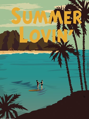 Summer Loving art print by American Flat for $41.25 CAD