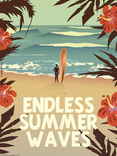 Endless Summer Waves art print by American Flat for $41.25 CAD