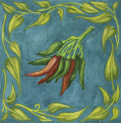 Peppers Red And Green Square art print by Andrea Strongwater for $48.75 CAD