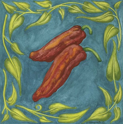 Peppers Red Square art print by Andrea Strongwater for $48.75 CAD