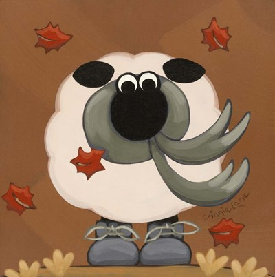 A Sheep in Fall Clothing art print by Annie Lane for $35.00 CAD