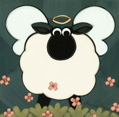 Holy Sheep art print by Annie Lane for $33.75 CAD