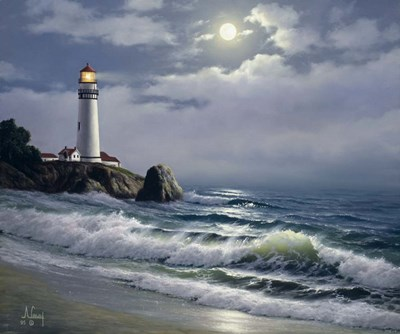 Lighthouse art print by Anthony Casay for $71.25 CAD