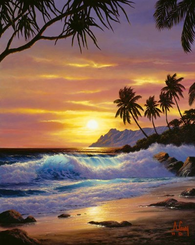 Tropical Shores art print by Anthony Casay for $65.00 CAD
