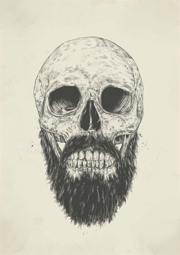 The Beard Is Not Dead art print by Balazs Solti for $42.50 CAD