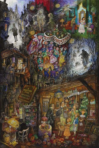 A Christmas Carol art print by Bill Bell for $68.75 CAD