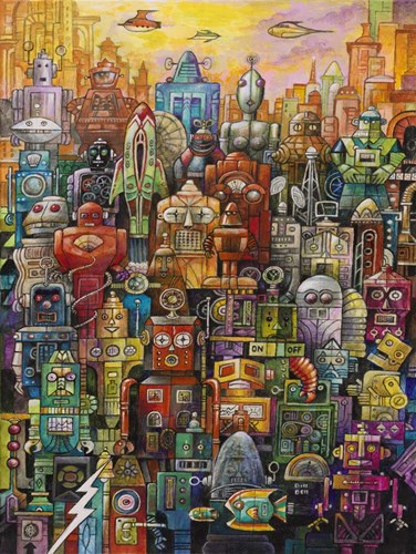 Robo Dootles art print by Bill Bell for $41.25 CAD