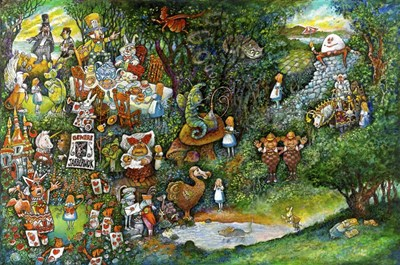 Alice in Wonderland art print by Bill Bell for $43.75 CAD