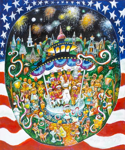 God Bless America art print by Bill Bell for $38.75 CAD