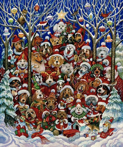 Santa Paws art print by Bill Bell for $38.75 CAD
