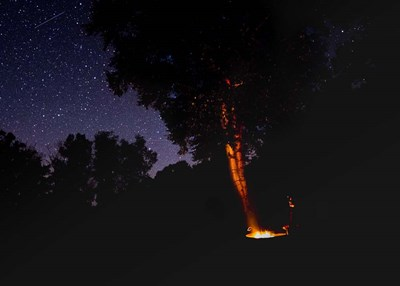 Campfire Under The Meteors art print by Brenda Petrella Photography LLC for $46.25 CAD