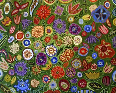 Abstract Floral art print by Catherine A Nolin for $42.50 CAD