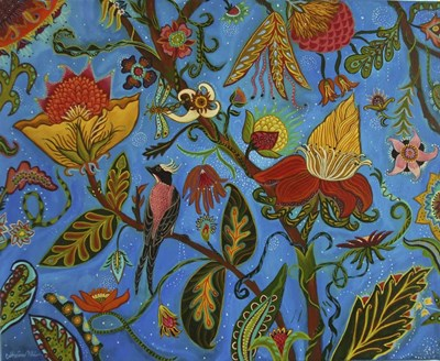 Flowers Gone Wild art print by Catherine A Nolin for $40.00 CAD