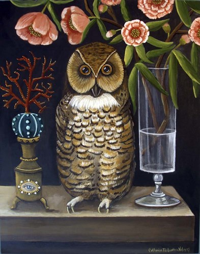 Curious and Wise art print by Catherine A Nolin for $40.00 CAD