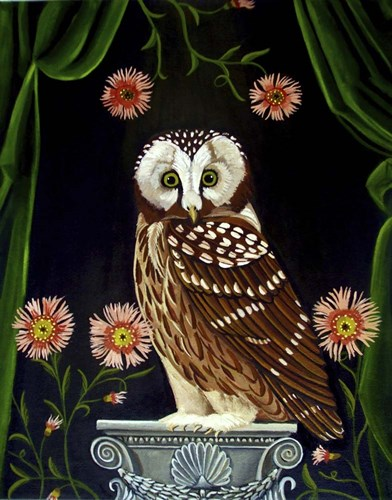 Owl Guardian Print art print by Catherine A Nolin for $40.00 CAD