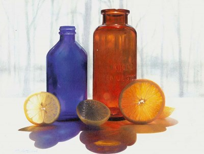 Bottles and Slices final art print by Cecile Baird for $47.50 CAD