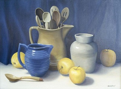 Blue Pitcher art print by Cecile Baird for $66.25 CAD