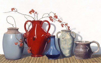 Vases And Vines art print by Cecile Baird for $60.00 CAD