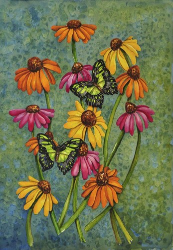 Monarchs & Sunflowers art print by Charlsie Kelly for $35.00 CAD