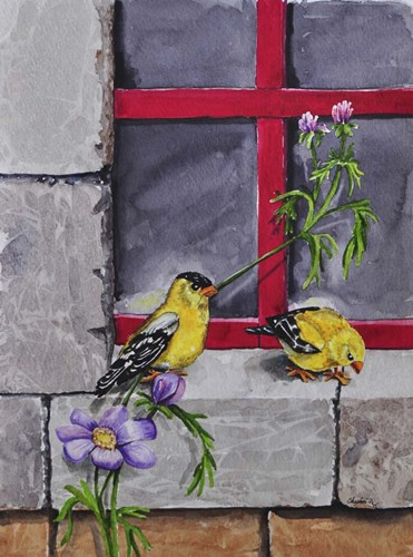 Gold Finches art print by Charlsie Kelly for $33.75 CAD