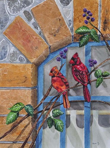 Cardinals art print by Charlsie Kelly for $33.75 CAD