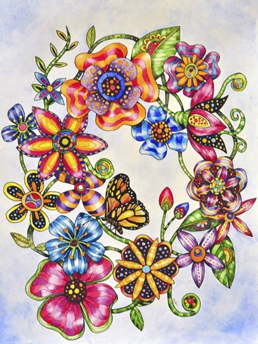 Wall Flowers art print by Charlsie Kelly for $32.50 CAD