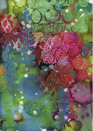 Texture - Green Red art print by Cherry Pie Studios for $42.50 CAD