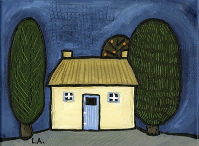 Cottage with Blue Door art print by Cherry Pie Studios for $40.00 CAD