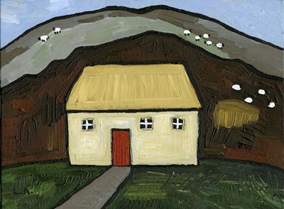 Cottage with Red Door art print by Cherry Pie Studios for $41.25 CAD