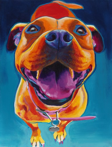 Pittie Party art print by DawgArt for $57.50 CAD