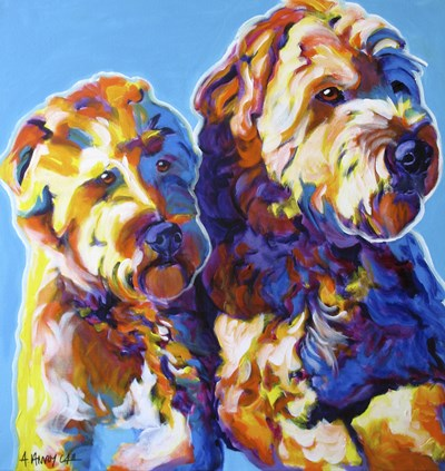 Max and Maggie art print by DawgArt for $50.00 CAD