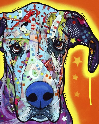 Great Dane art print by Dean Russo for $17.50 CAD