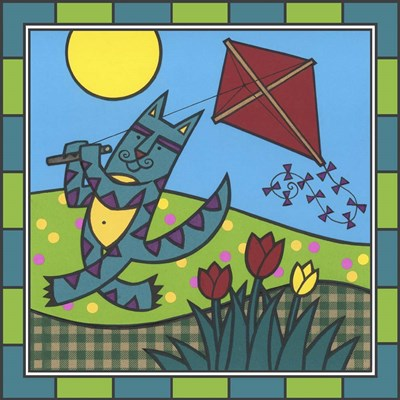 Max Cat Kite 1 art print by Denny Driver for $35.00 CAD