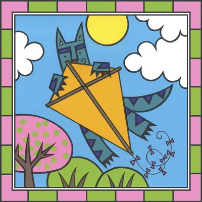 Max Cat Kite 2 art print by Denny Driver for $35.00 CAD