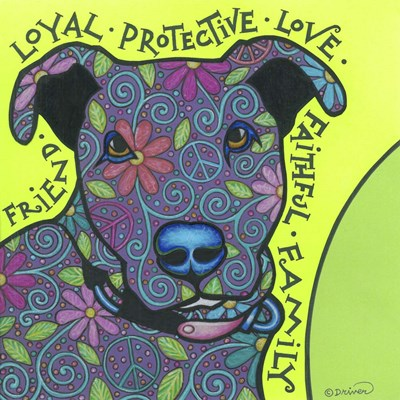 Pit Bull I art print by Denny Driver for $35.00 CAD