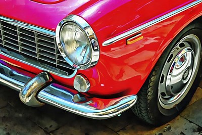 Fiat 1500 Cabriolet Red Front Detail art print by Dorothy Berry-Lound for $43.75 CAD