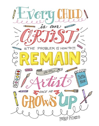 Every Child Is An Artist art print by Elizabeth Caldwell for $40.00 CAD